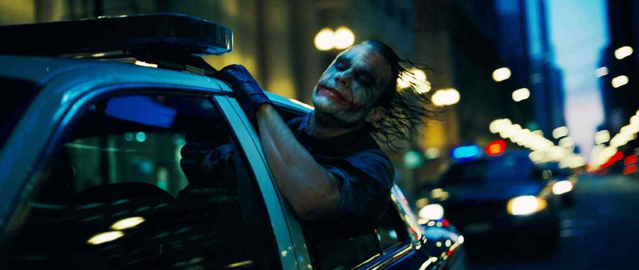 "HEATH LEDGER stars as The Joker in Warner Bros. Pictures' and Legendary Pictures' action drama ""The Dark Knight,"" distributed by Warner Bros. Pictures and also starring Christian Bale, Michael Caine, Gary Oldman, Aaron Eckhart, Maggie Gyllenhaal and Morgan Freeman. PHOTOGRAPHS TO BE USED SOLELY FOR ADVERTISING, PROMOTION, PUBLICITY OR REVIEWS OF THIS SPECIFIC MOTION PICTURE AND TO REMAIN THE PROPERTY OF THE STUDIO. NOT FOR SALE OR REDISTRIBUTION."